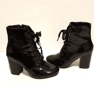 Kenneth cole reaction Corrine black heeled boots